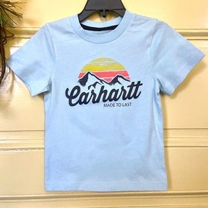 2for$15 NEW Carhartt lt.blue mountains t-shirt 18M